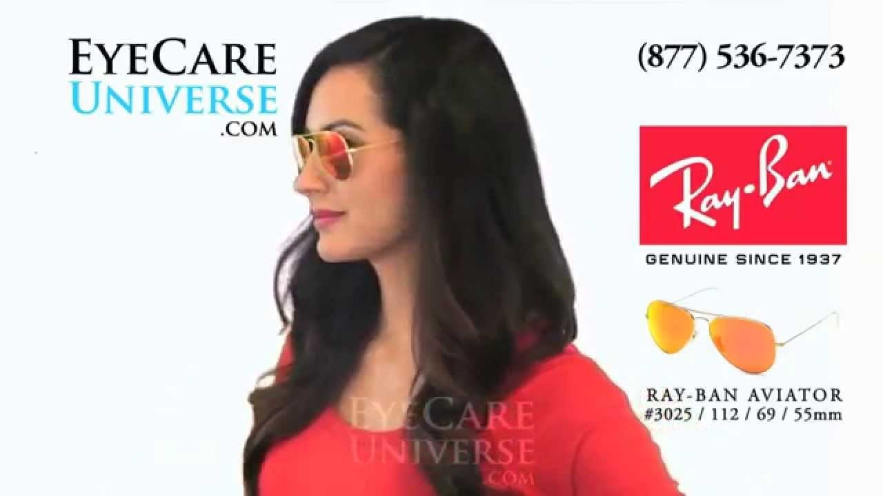 662e72379fa Ray Ban Aviator Sunglasses RB3025 112 69 55mm Quick Review - YouTube