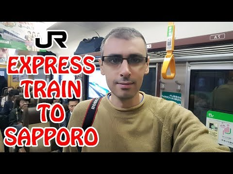 How to Take the JR Express Train from New Chitose Airport to Sapporo   Japan Vlog