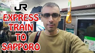 How to Take the JR Express Train from New Chitose Airport to Sapporo | Japan Vlog