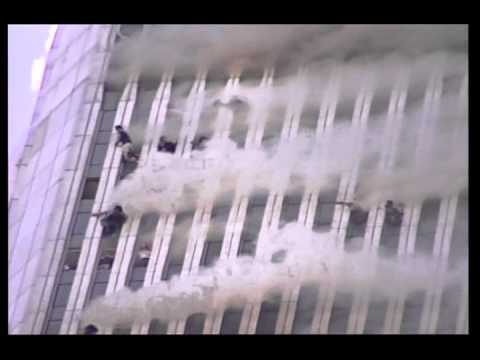 above the 100th floor wtc1 burns on 911 stabilized