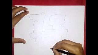 Como Dibujar La Letra H En Graffitis (How to Draw Graffiti Letter H In )