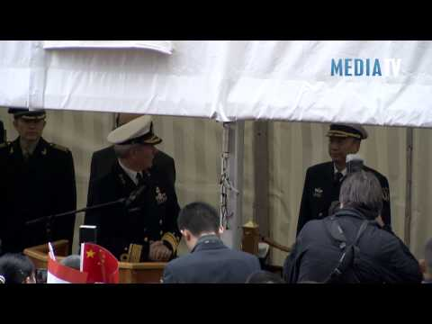 Drie marineschepen van China in Rotterdam
