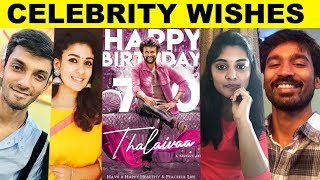 Celebrities Wish Superstar Rajinikanth On His B'Day | Dhanush | Nayanthara | Anirudh | Cinema | HD