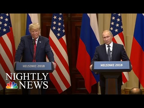 Helsinki Summit: President Trump Backs Vladimir Putin On Election Interference | NBC Nightly News