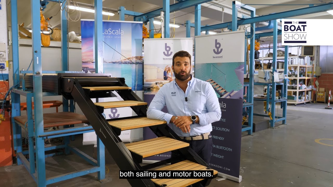 RETRACTING ELECTRIC GANGWAYS by BESENZONI - The Boat Show