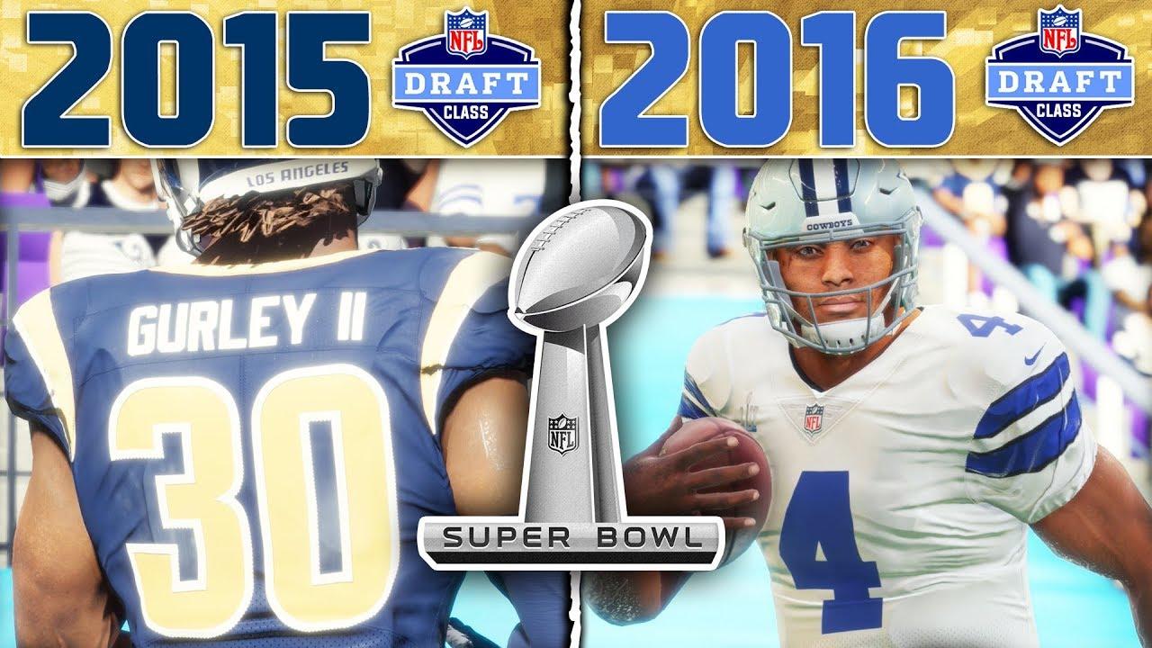 NFL DRAFT CLASS SUPERBOWL! 2015 CLASS vs 2016 CLASS | Madden 18 NFL Draft Class Tournament Game 7