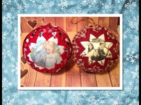 No Sew Quilted Picture Ornament (No Sew Ornament)   Diy Christmas ...