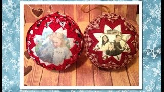 No Sew Quilted Picture Ornament (No Sew Ornament)   Diy Christmas Ornament