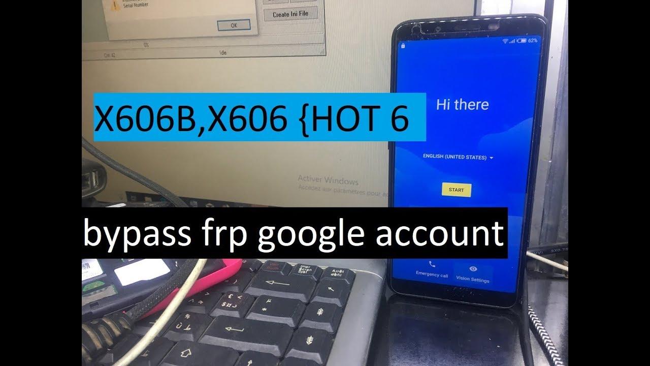 bypass frp google account verification reset Infinix Hot 6 INFINIX  X606B,X606 ANDROID 7 0 | 7 1