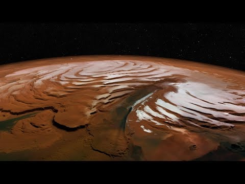 What has NASA's Mars Reconnaissance Orbiter seen around the polar regions of Mars? HiRise Images 4K