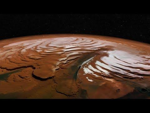 What has NASA's Mars Reconnaissance Orbiter seen around the polar regions of Mars? HiRise Images 4K