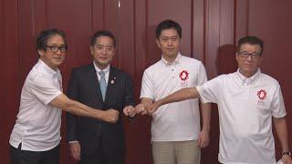 「未来に夢持てる万博に」 井上担当相、大阪知事と会談