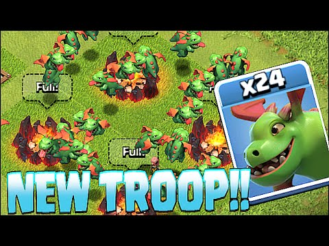 Clash Of Clans - NEW TROOP BABY DRAGON!! (Insane!! Gameplay)