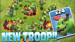 Clash Of Clans - NEW TROOP BABY DRAGON!! (Insane!! Gameplay)(Clash of clans baby dragon comes to the party! a fan favorite of clash royale and now brought over to clash of clans!! Enjoy my gameplay of the new baby dragon ..., 2016-05-22T12:31:46.000Z)