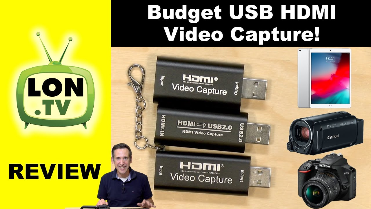 HDMI to USB 1080p USB2.0 Record via DSLR Camcorder Action Cam for Gaming Streaming Live Broadcasting ABLEWE Audio Video Capture Card