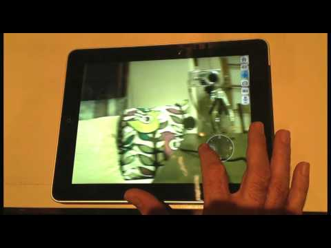 Foscam FI8910W Wireless IP Camera Controlled By Foscam Pro App On IPad Demo