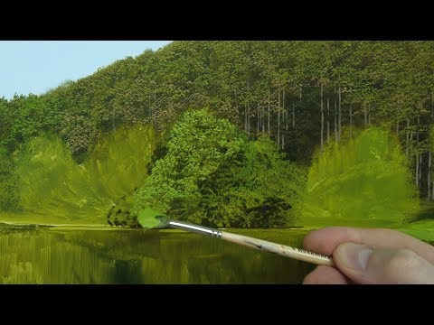 #101 How To Paint Realistic Trees in 3 Easy Steps | Oil Painting Tutorial