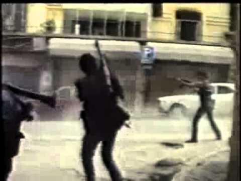 حرب الاهلية اللبنانية Lebanese Civil War - War of the flag footage