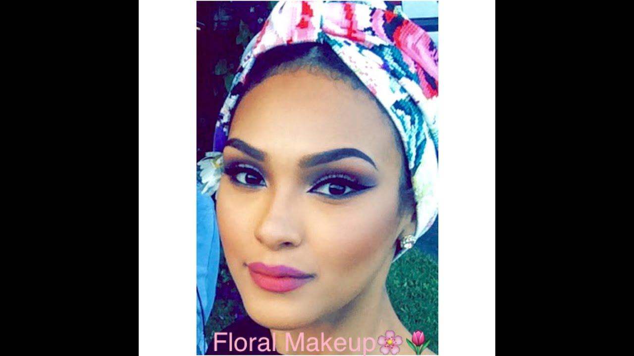 Floral inspired makeup tutorial youtube baditri Choice Image