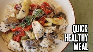Chicken With Sun Dried Tomatoes, Artichokes & Mushrooms