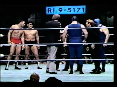 Antonio Inoki & Seiji Sakaguchi vs The Infernos wJC Dykes L.A. Olympic Auditorium