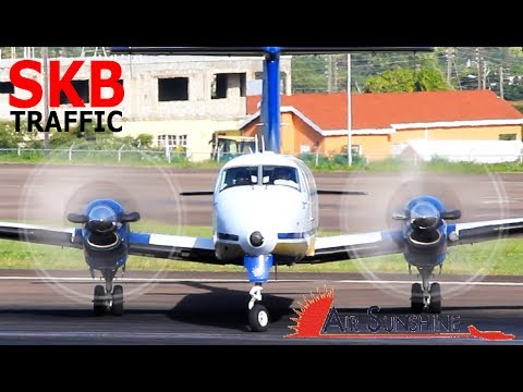 Air Sunshine Beech 1900 in awesome action @ St. Kitts (More Sunshine Action !!)