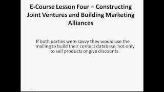 04-Constructing Joint Ventures-Introduction to Internet Marketing by Andre Klein