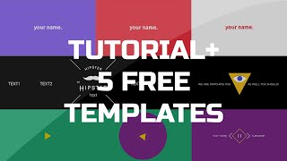 After Effects Tutorial - .gif animated Banner & 5 free templates
