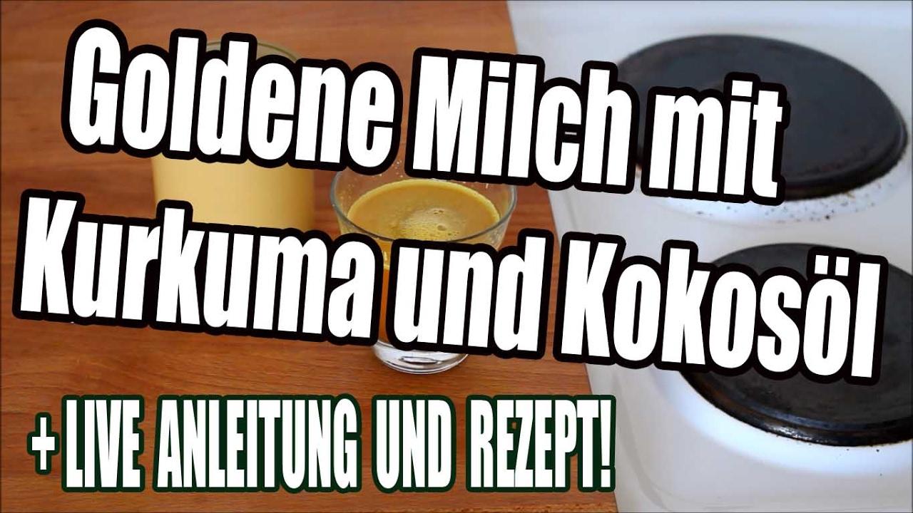 goldene milch mit kurkuma und kokos l live zubereitung und rezept youtube. Black Bedroom Furniture Sets. Home Design Ideas