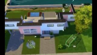 sims 4 maison playmobil moderne de luxe