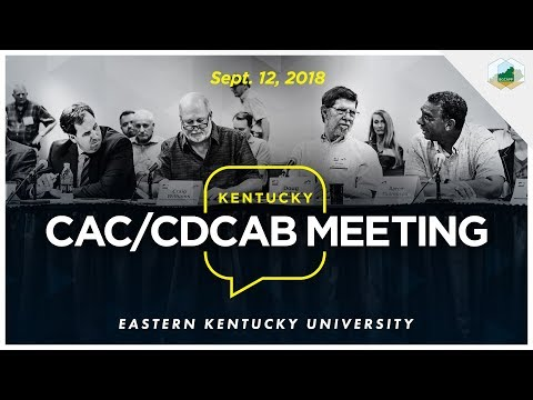Sept. 12 Kentucky Chemical Demilitarization Citizens' Advisory Commission & CDCAB Meeting 2018