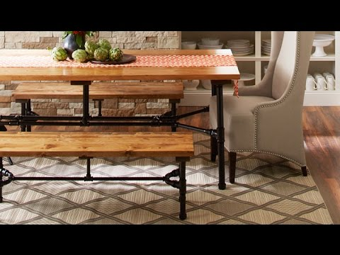 Beau How To Build A Harvest Table Using Pipes   YouTube