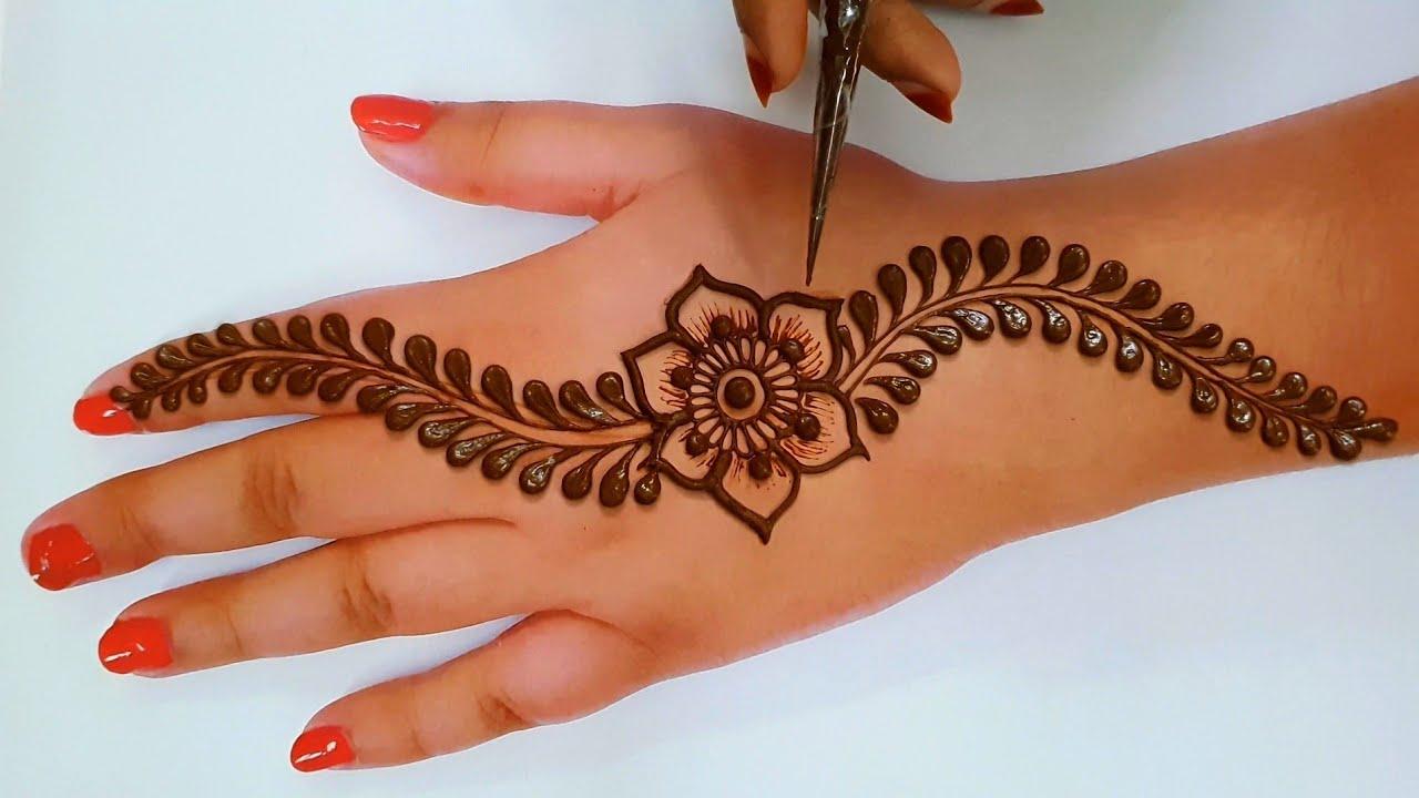 Most Latest beautiful back hand Arabic Mehndi design   Easy Mehndi   तीज त्यौहार मेहंदी डिजाइन