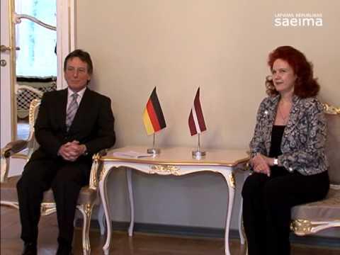 Saeimā atvadu vizītē viesojas Vācijas vēstnieks Latvijā