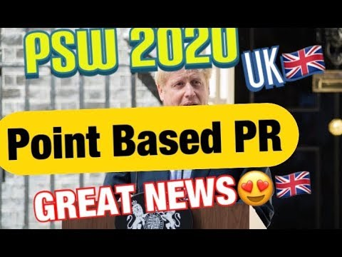 PSW 2020 In UK🇬🇧| Point Based PR IMMIGRATION SYSTEM UK🇬🇧😌| London , England