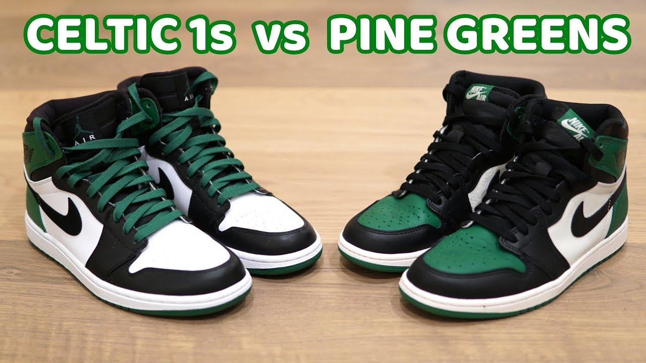 Air Jordan 1 Celtics (feat. Pine Green