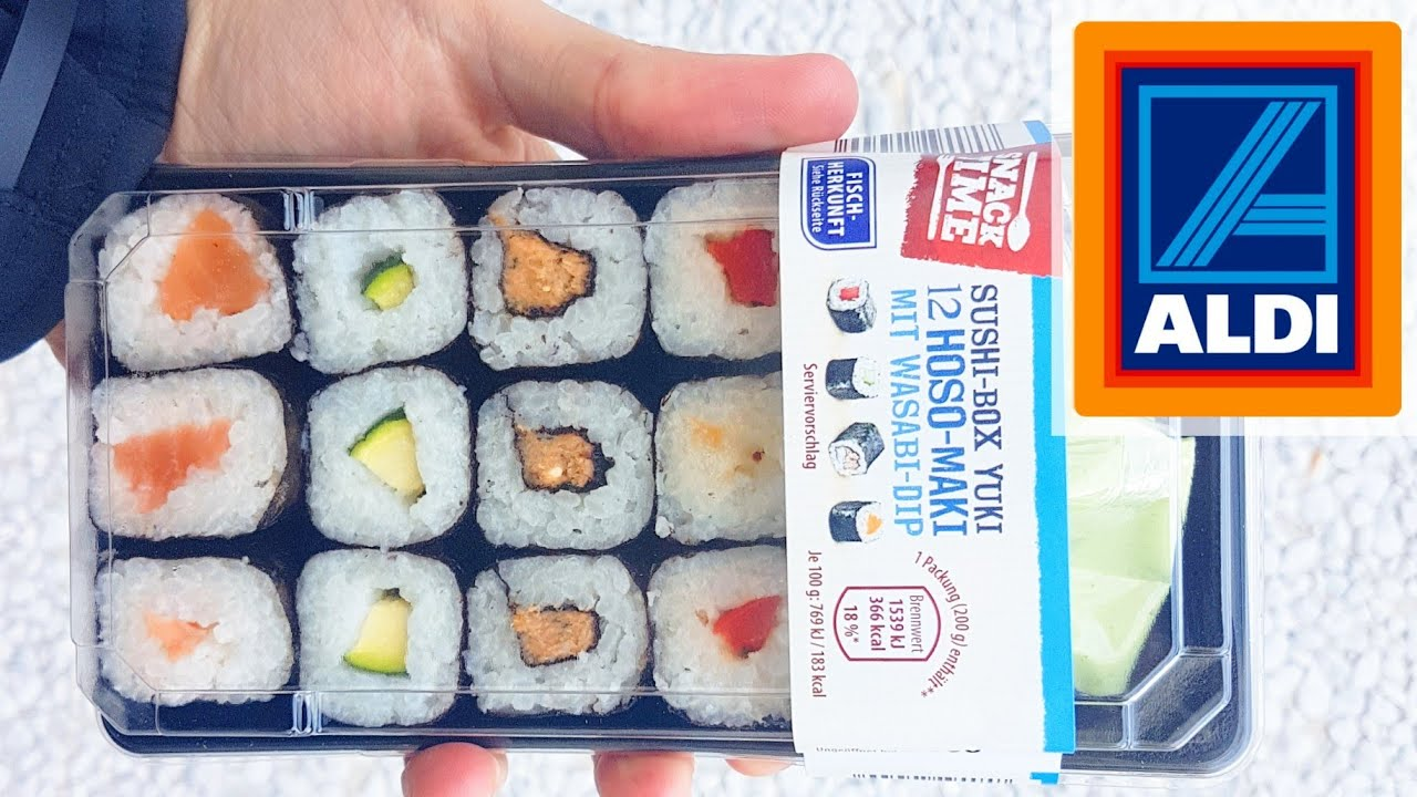 aldi sushi box take away 12 hoso maki wasabi dip review. Black Bedroom Furniture Sets. Home Design Ideas