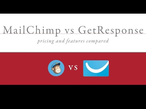 MailChimp vs GetResponse Pricing and Features
