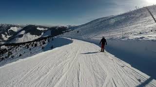 Февраль 2018 Горные лыжи в Ясна Словакия горнолыжный курорт Jasna Slovakia
