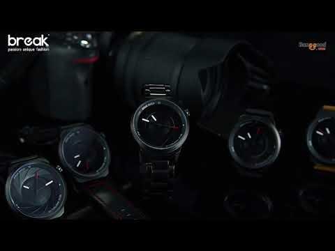 BREAK T25 Photography Themed Wrist Watch Stainless Steel Strap Quartz Watch
