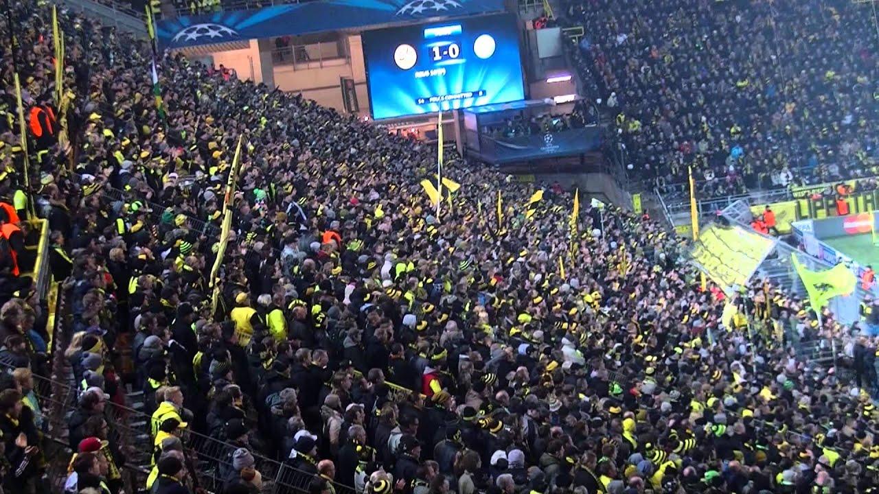Stimmung Südtribüne: Borussia Dortmund - SSC Neapel (Champions League BVB 13/14)