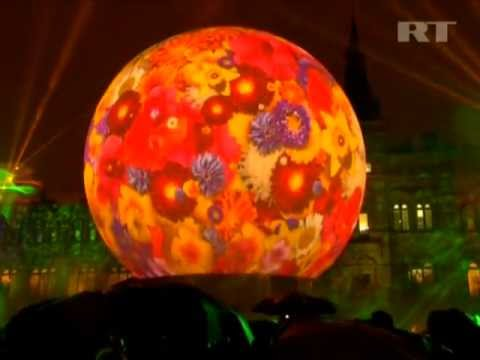 AMAZING 3D LIGHT SHOW!!! & Firework Display Moscow, Russia
