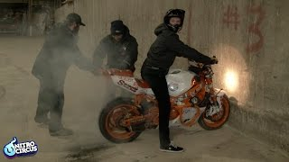 Streetbike Stunt Riding - Burnouts with Ronnie Reality