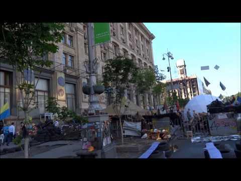 UKRAINE - Kiev City Centre after demonstrations