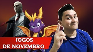LANÇAMENTOS DE GAMES - NOVEMBRO 2018 PS4, XBOX ONE, PC, SWITCH
