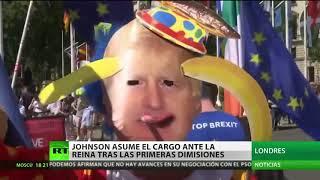 Video: Boris Johnson asume en Inglaterra y promete salir de la UE en octubre