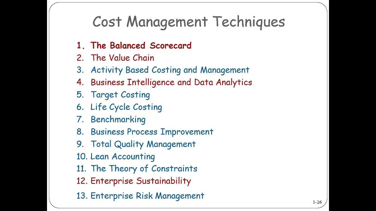 costing techniques Activity-based costing activity-based costing methods are well-suited to service companies, because they offer flexibility that job-order costing systems do not.