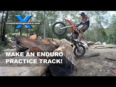 HOW TO MAKE ENDUROCROSS TRACKS: Cross Training Enduro Skills