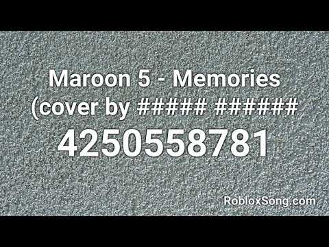 memories maroon 5 roblox id