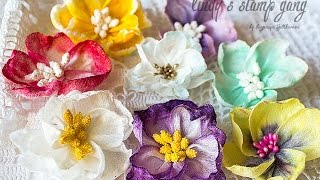 Handmade Flowers Tutorial for Lindy's Stamp Gang(Цветы из влажных салфеток., 2015-08-16T15:11:19.000Z)